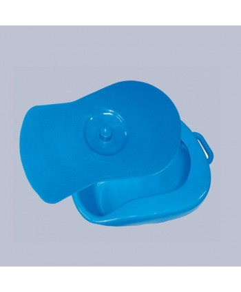 BED PAN WITH LID and HANDLE